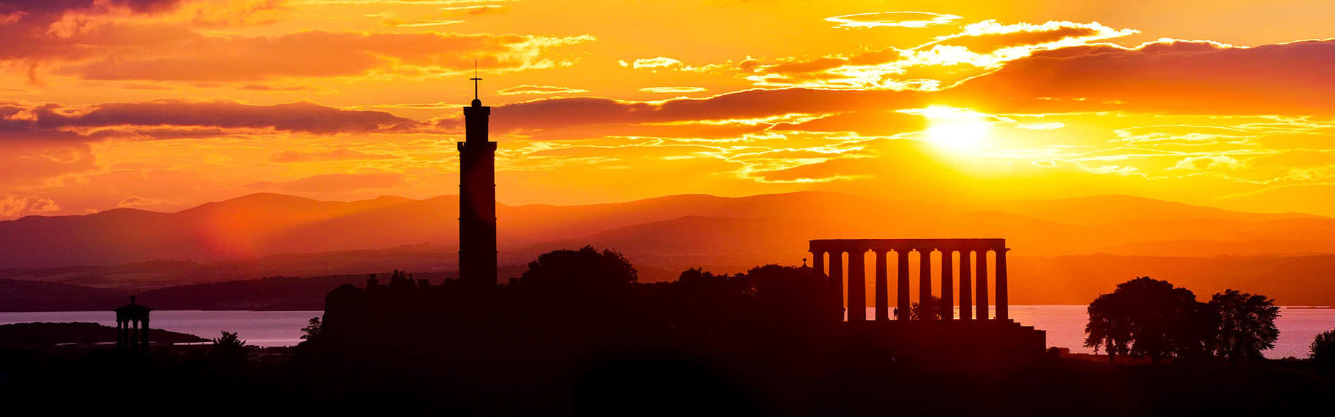 Calton Hill at Sunset - Spectacular Edinburgh Photography