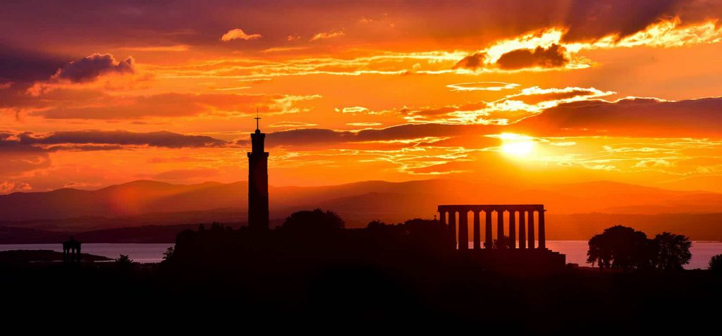 Calton Hill at Sunset (Smaller) - Spectacular Edinburgh Photography