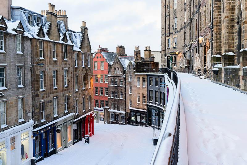 Deep Snow on the West Bow - Spectacular Edinburgh Photography