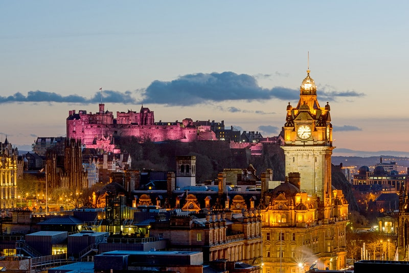 Edinburgh Castle from Calton Hill - Spectacular Edinburgh Photography