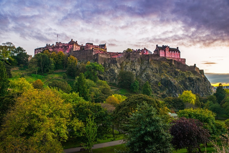 Edinburgh Castle from Princes Street Gardens - Spectacular Edinburgh Photography