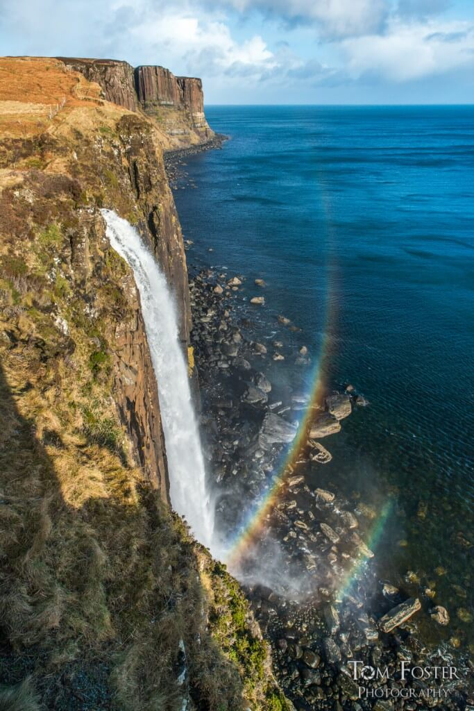 Final rainbow photo at Kilt Rock - Spectacular Edinburgh Photography