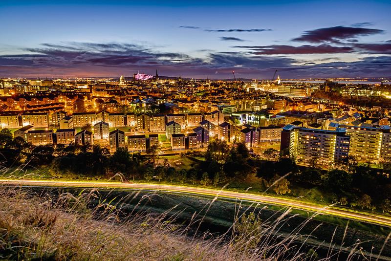 Golden City of Edinburgh (Wide) - Spectacular Edinburgh Photography