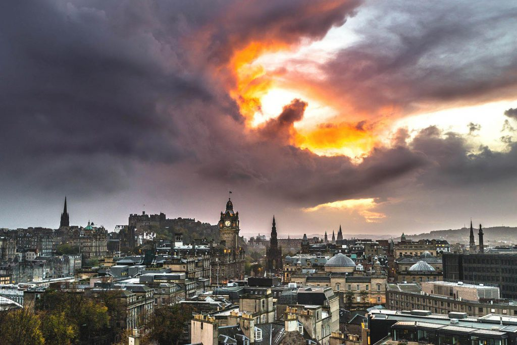 'Hand of God' over Edinburgh - Spectacular Edinburgh Photography
