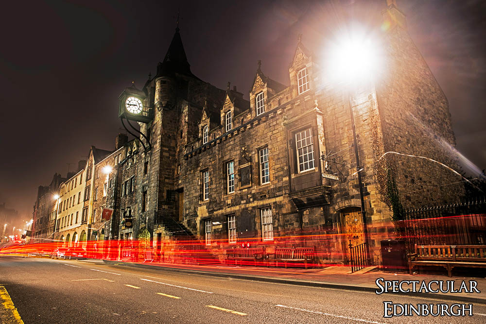 Light Trails past the Tolbooth - Spectacular Edinburgh Photography