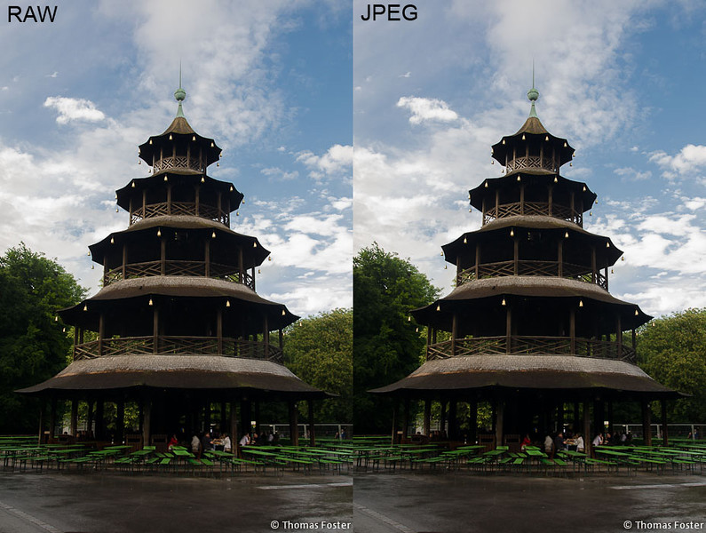 Pagoda in Munich's Englischer Garten (JPEG vs RAW comparison 1) - Spectacular Edinburgh Photography
