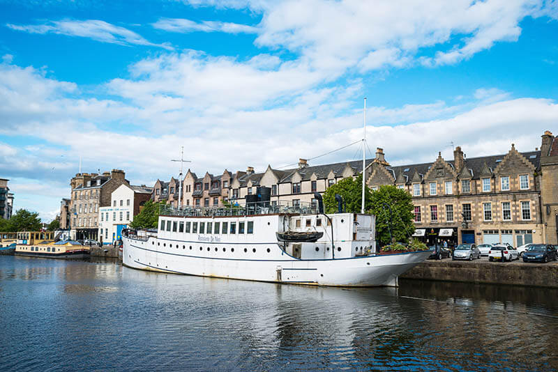 Restaurant boat on the Water of Leith- Spectacular Edinburgh Photography