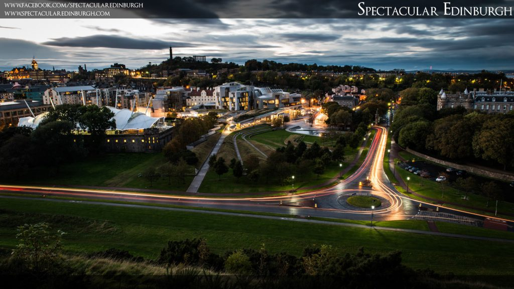 Wallpaper 3 - Light Trails at Holyrood - Spectacular Edinburgh Photography