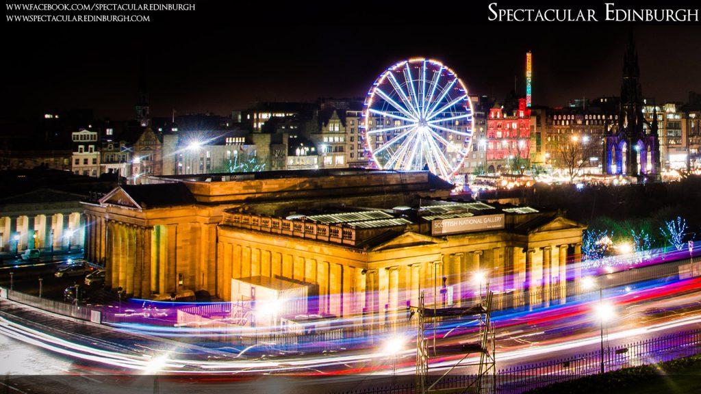 Wallpaper 8 - Light Trails at Edinburgh's Christmas - Spectacular Edinburgh Photography