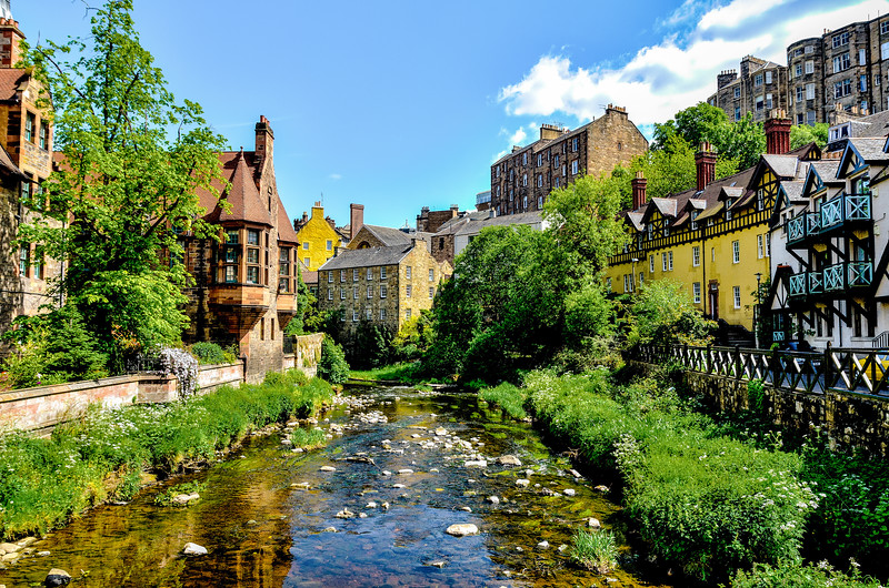 Water of Leith at Dean Village - Spectacular Edinburgh Photography