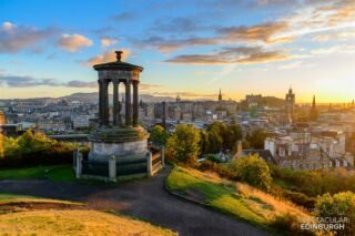 A colourful view from Calton Hill, Edinburgh  ~~~ Tom 😀